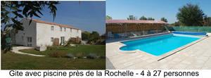 Gite avec piscine près de la Rochelle - 4 à 24 personnes